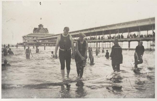 George Bradford Brainerd (American, 1845-1887). 'Bathers, Steel Pier, Coney Island' c. 1880–85