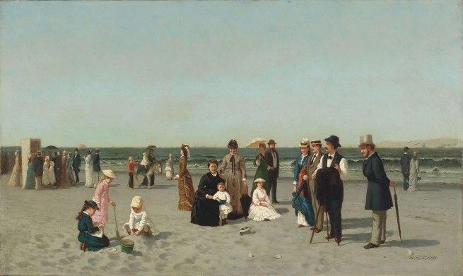 Samuel S. Carr (American, 1837–1908). 'Beach Scene' c. 1879