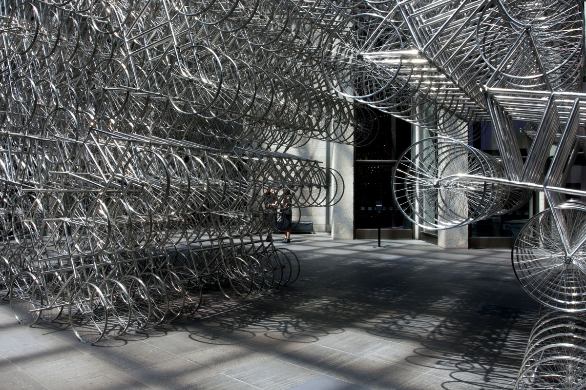 Ai weiwei pillar through round table art blart ai weiwei chinese 1957 forever bicycles 2015 detail floridaeventfo Image collections