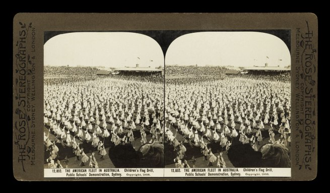The Rose Stereographs. 'Children's Flag Drill' 1908