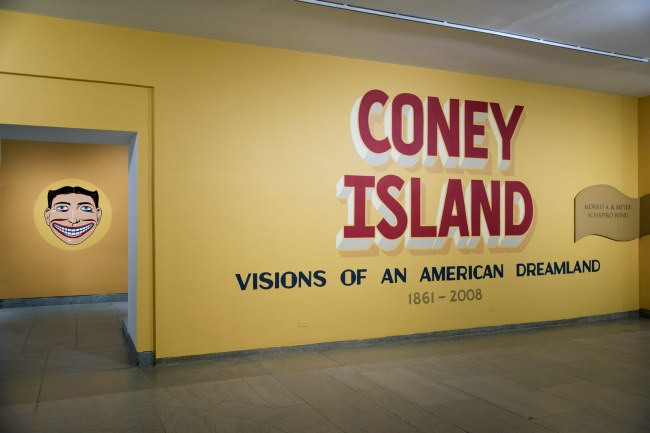 installation of view of the exhibition 'Coney Island: Visions of an American Dreamland, 1861-2008' at the Brooklyn Museum