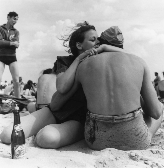 Morris Engel (American, 1918–2005). 'Coney Island Embrace, New York City' 1938