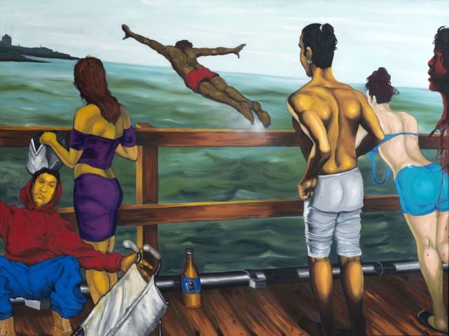 Daze (American, born 1962). 'Coney Island Pier' 1995