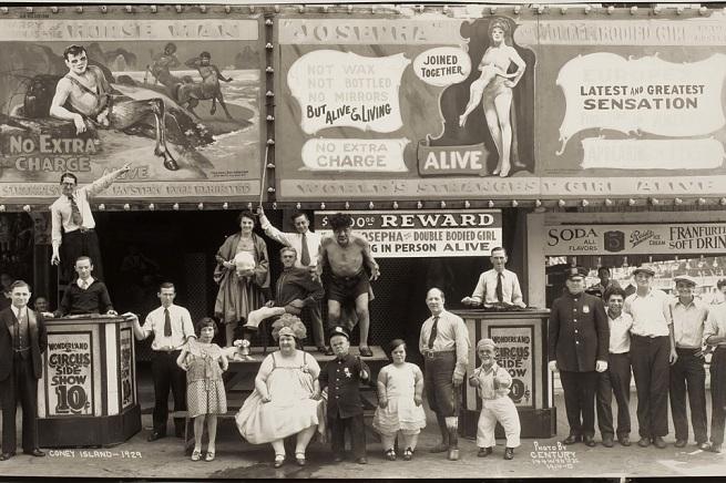 Edward J. Kelty (American, 1888-–1967) 'Wonderland Circus Sideshow, Coney Island' 1929
