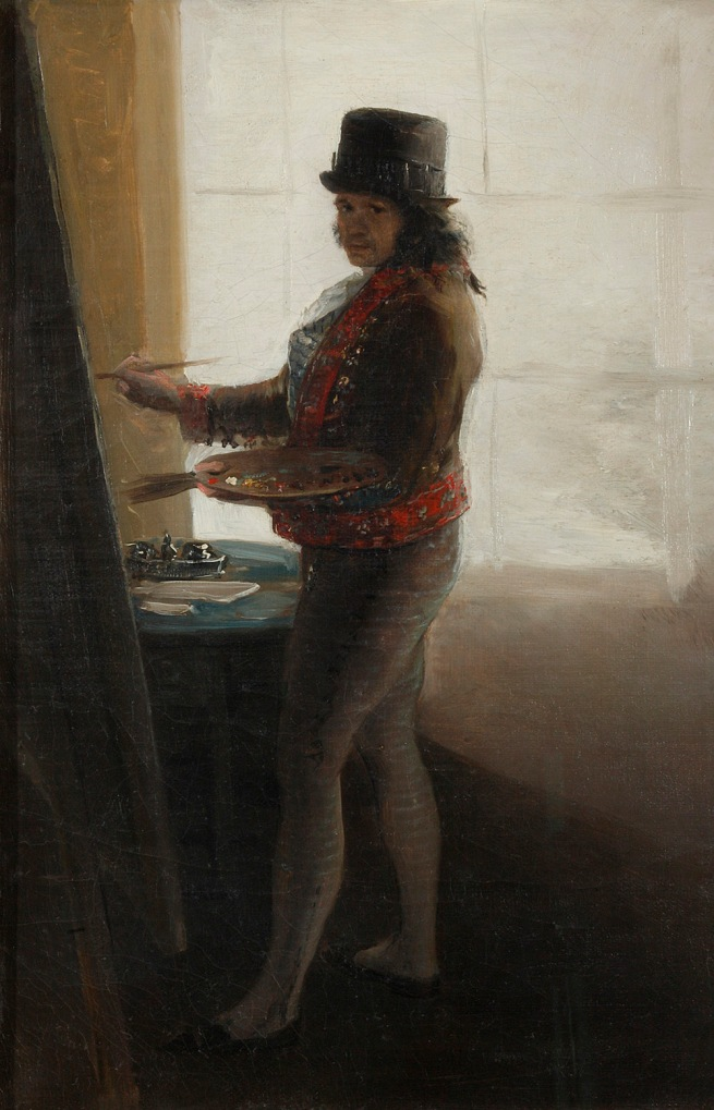 Francisco de Goya. 'Self Portrait before an Easel' 1792-5