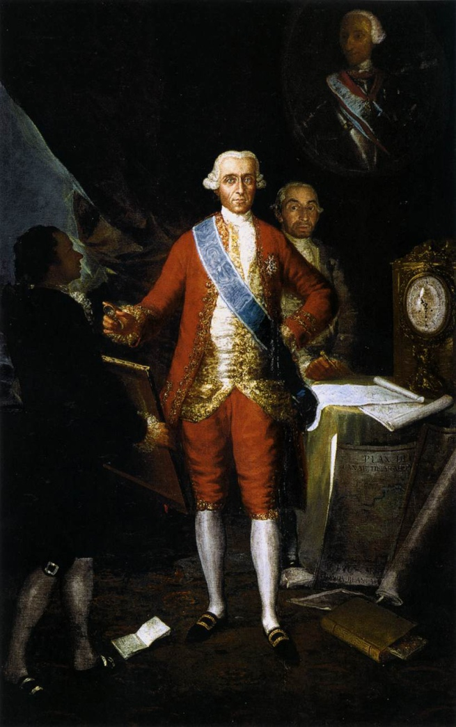 Francisco Goya. 'Portrait of the Count of Floridablanca' 1783