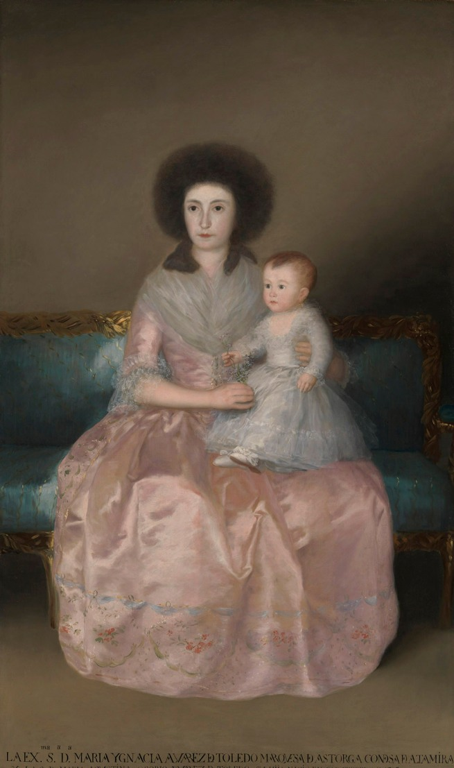 Francisco de Goya. 'Countess of Altamira with her daughter' 1787-88