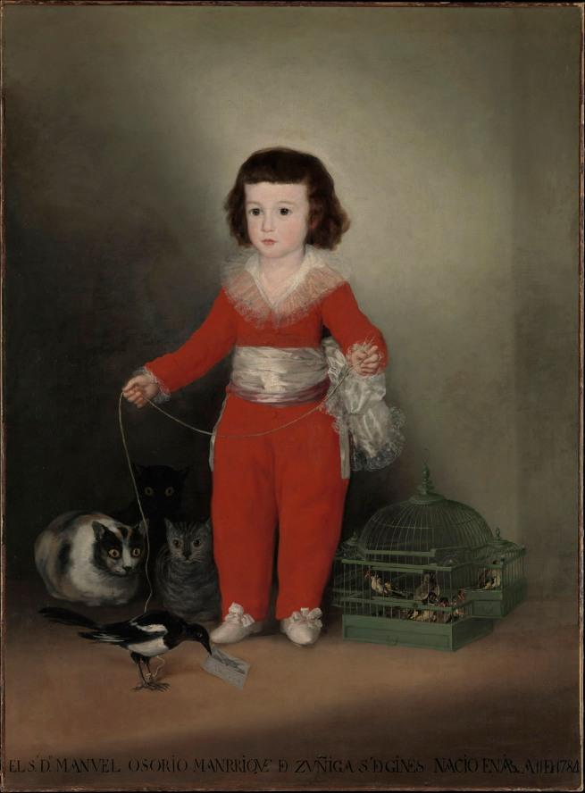Francisco de Goya. 'Manuel Osorio Manrique de Zuñiga' 1788