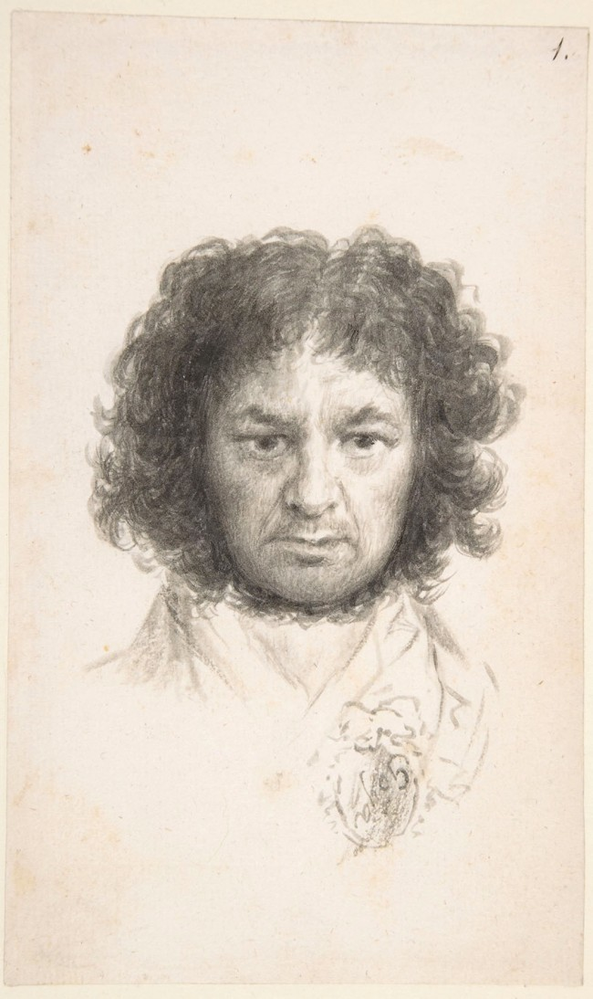 Francisco de Goya. 'Self Portrait after Illness of 1792-3' 1795-7