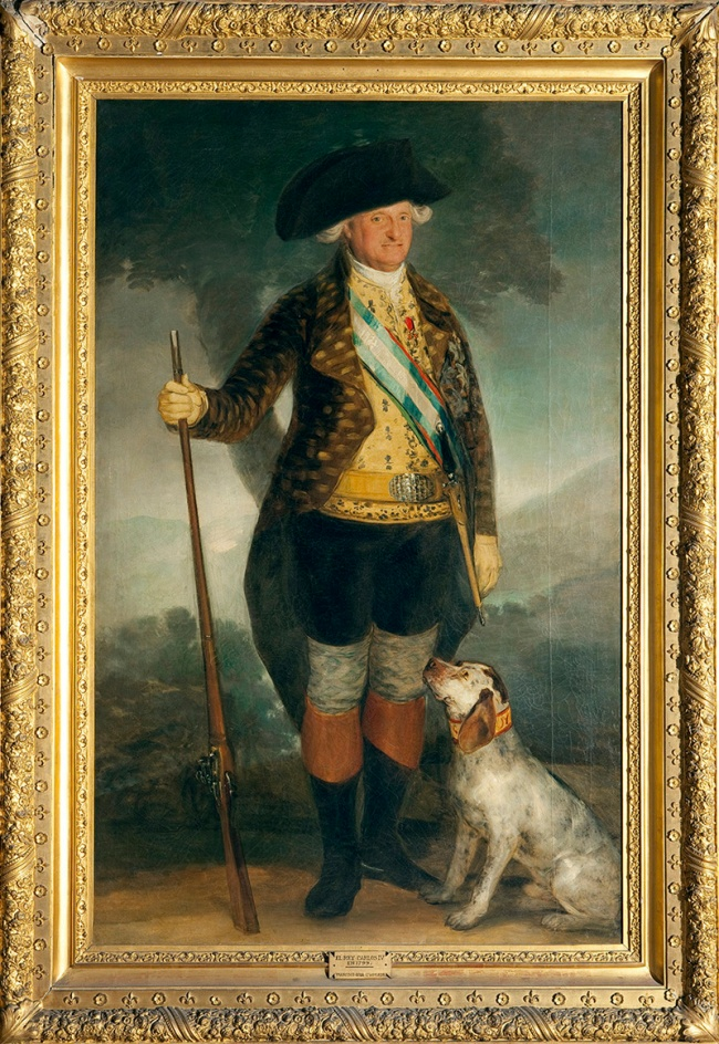 Francisco de Goya. 'Charles IV in Hunting Dress' 1799
