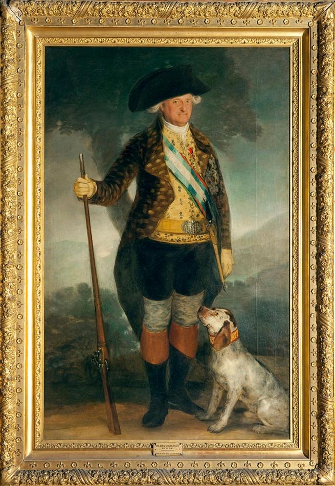 Francisco de Goya. 'Charles IV in Hunting Dress' 1799