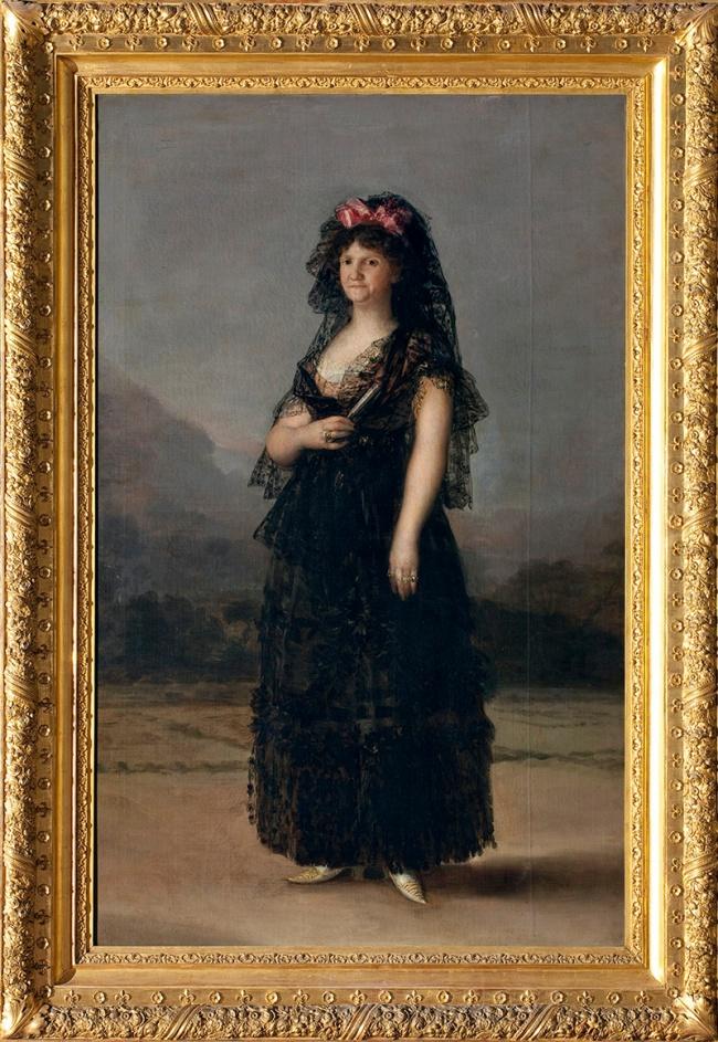 Francisco de Goya. 'María Luisa wearing a Mantilla' 1799