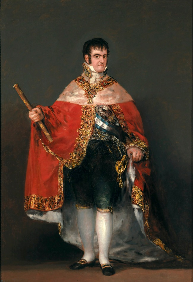 Francisco de Goya. 'Ferdinand VII in Court Dress' 1814-5