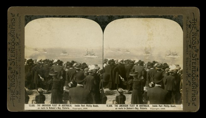 The Rose Stereographs. 'Inside Port Phillip Heads, en route to Hobson's Bay, Victoria' 1908