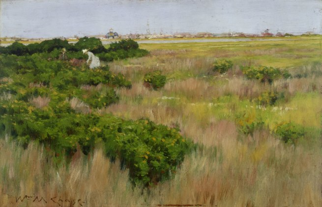 William Merritt Chase (American, 1849–1916). 'Landscape, near Coney Island' c. 1886