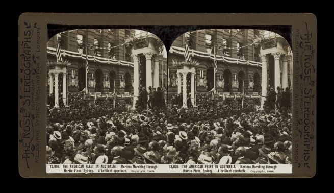 The Rose Stereographs. 'Marines Marching through Martin Place' 1908