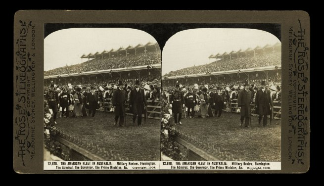 The Rose Stereographs. 'Military Review, Flemington' 1908