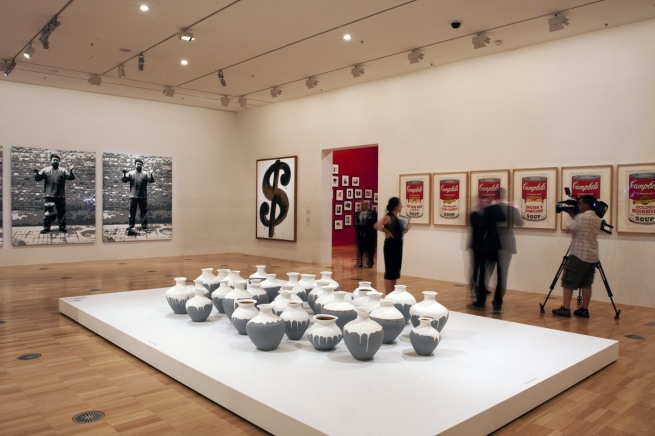 Installation view of the exhibition 'Andy Warhol | Ai Weiwei' at the National Gallery of Victoria, Melbourne