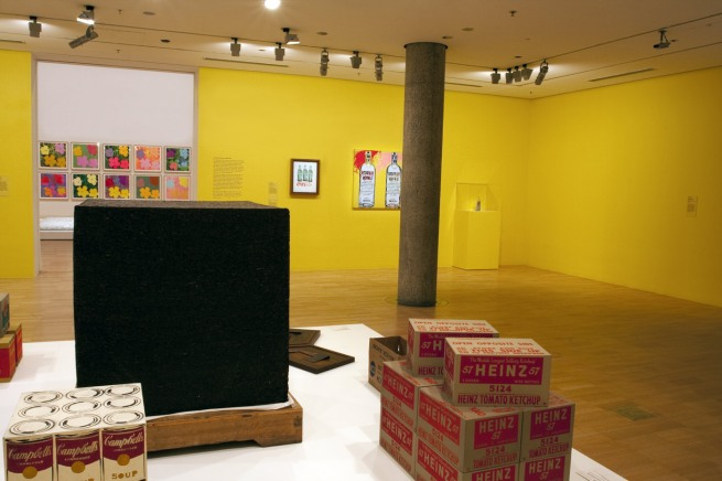Installation view of the third room including Ai Weiwei's 'Tonne of Tea' (2006)