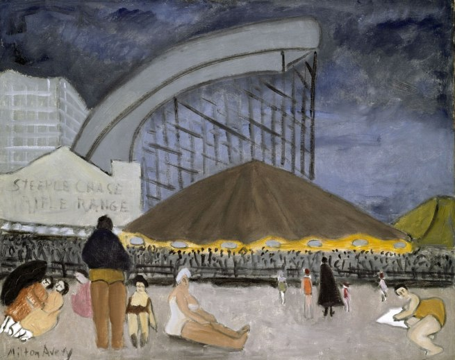Milton Avery (American, 1885–1965). 'The Steeplechase, Coney Island' 1929