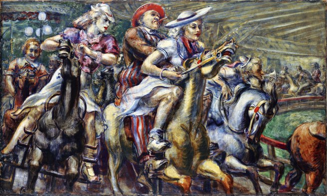 Reginald Marsh (American, 1898–1954). 'Wooden Horses' 1936