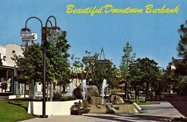 Anonymous photographer. 'Beautiful Downtown Burbank' c. 1960-70s