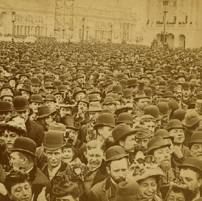 B.W. Kilburn. 'The Surging Sea of Humanity at the Opening of the Columbian Exposition, Chicago' 1893 (detail)