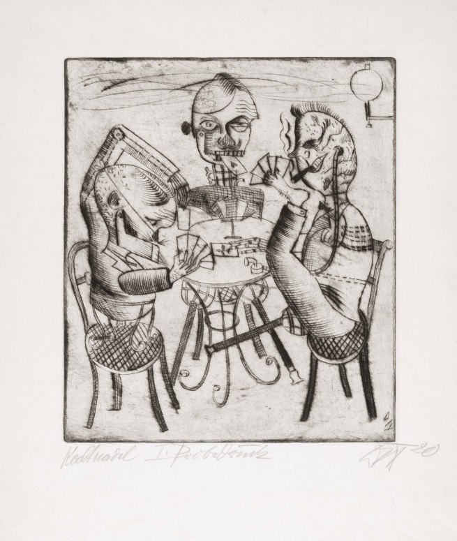 Otto Dix 'Card Players' (Kartenspieler), 1920