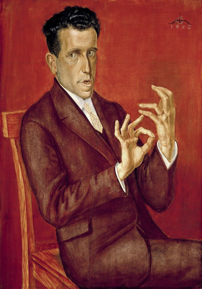 Otto Dix Portait of the Lawyer Hugo Simons (Porträt des Rechtsanwalts Hugo Simons), 1925