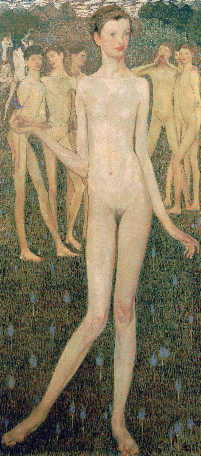 Elena Luksch-Makowsky (1878-1967) 'Adolescentia' 1903