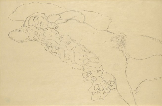 Gustav Klimt (1862-1918) 'Lying Female Nude' Vienna, 1914-15
