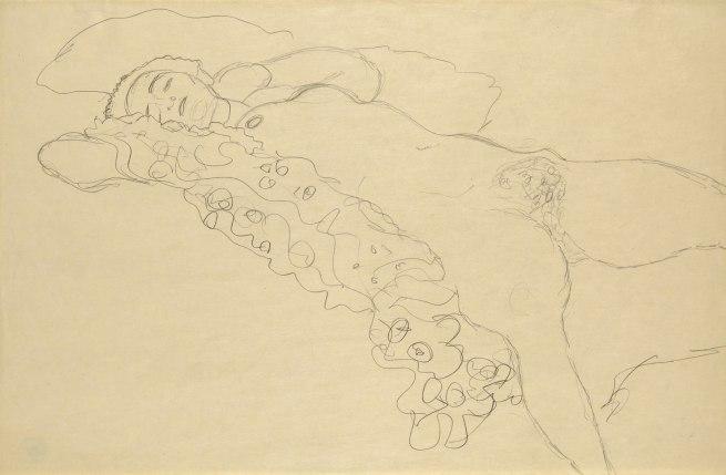 Gustav Klimt (1862-1918) 'Lying Female Nude' Vienna, 1914-15