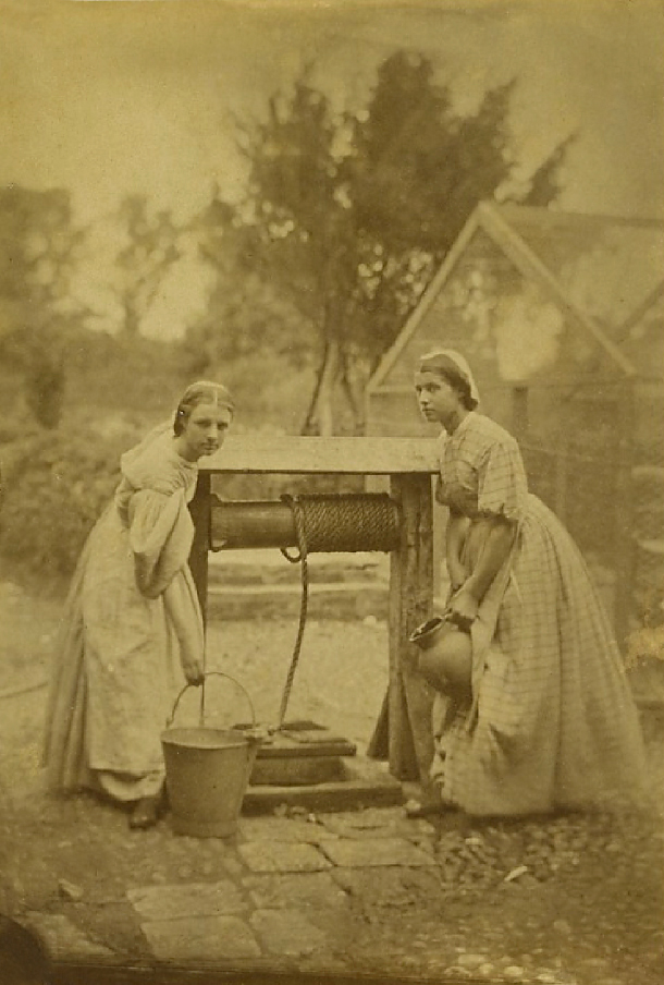 Oscar Gustaf Rejlander (possibly in collaboration with Julia Margaret Cameron) 'The Idylls of the Village' or 'The Idols of the Village' c. 1863