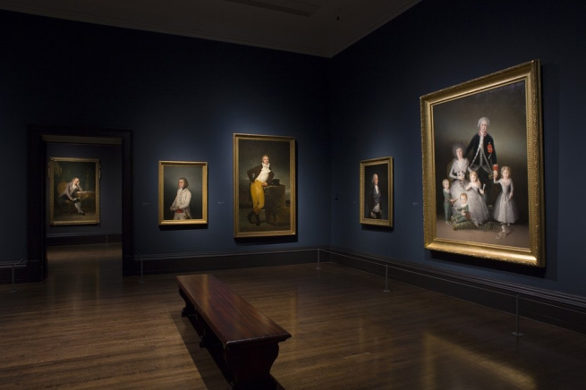 Installation photograph of the exhibition 'Goya: The Portraits' at the National Gallery, London