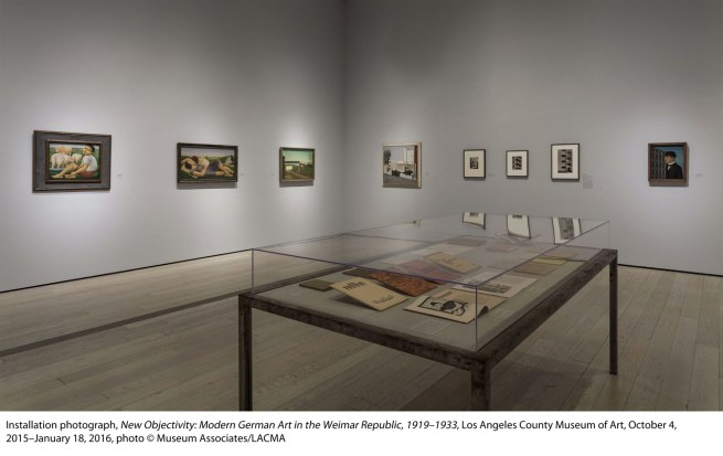 Installation view of the exhibition 'New Objectivity: Modern German Art in the Weimar Republic, 1919–1933' at LACMA