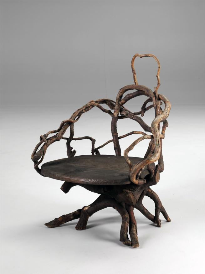 Karl Gräser (1849-1899) 'Chair in the style of his room furnishings on Monte Verita' Museum Casa Anatta, Monte Verita, Ascona, 1910