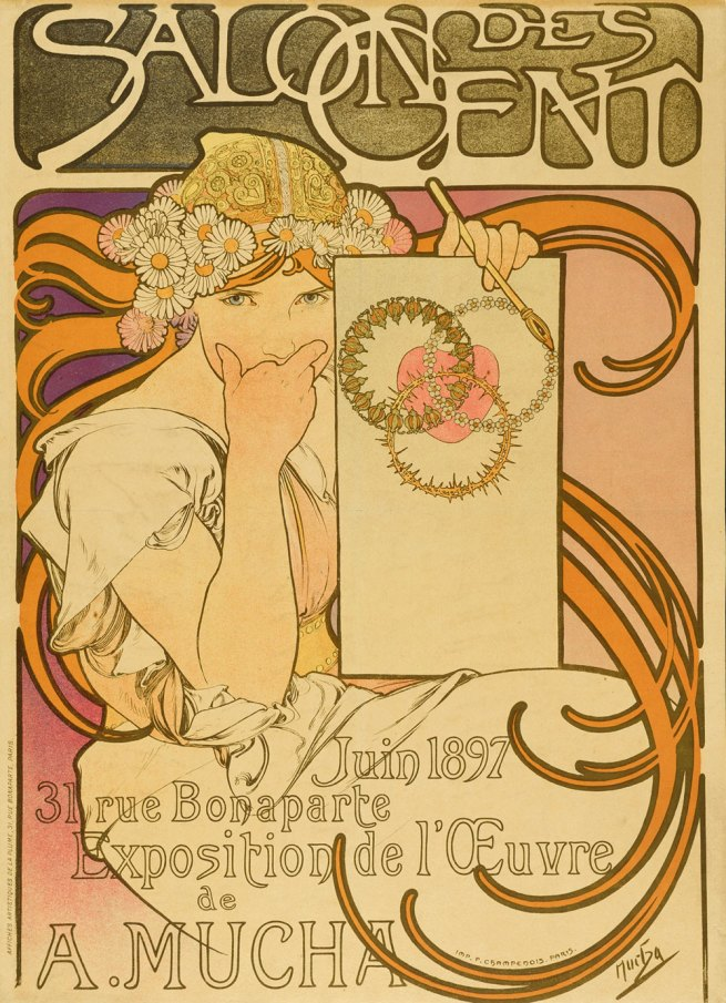 Alfons Mucha. 'Salon des Cent' Exhibition, Paris, 1897