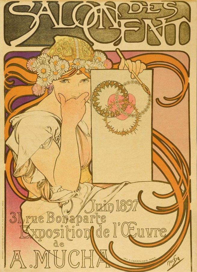 Alfons Mucha. 'Salon des Cent' Exhibition, Paris, 1897