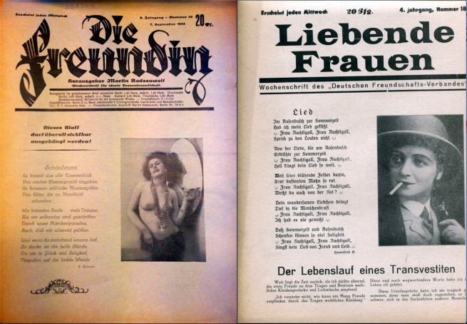 Die Freundin (The Girlfriend), September 1932, and Liebende Frauen (Women in Love), 1929