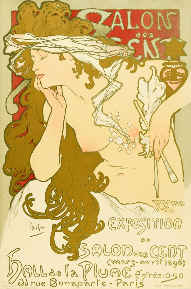 Alfons Mucha (1860-1939) 'Salon des Cent' Paris 1896