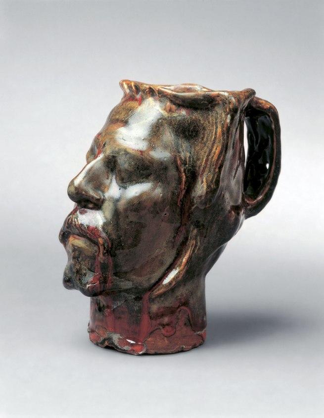 Paul Gauguin (1848-1903) 'Vase with self-portrait' 1889