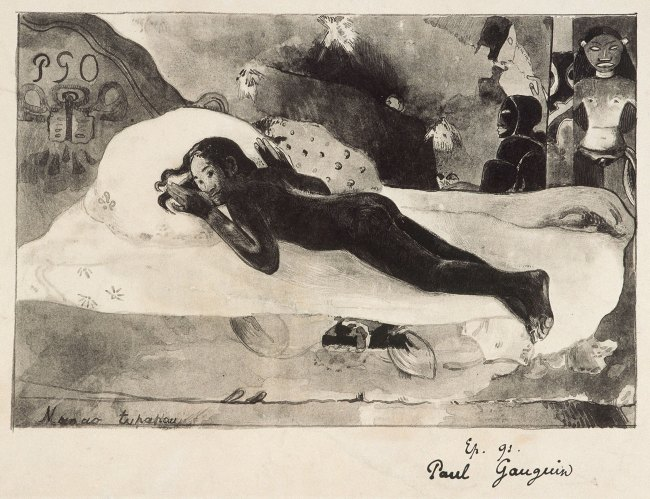 Paul Gauguin (1848-1903) 'Manao Tupapau (The Ghost of the Dead awakens)' 1894