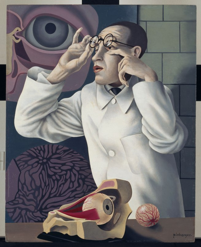 Herbert Ploberger Self-Portrait with Ophthalmological Models (Selbstbildnis mit ophthamologischen Lehrmodellen), c. 1928-30