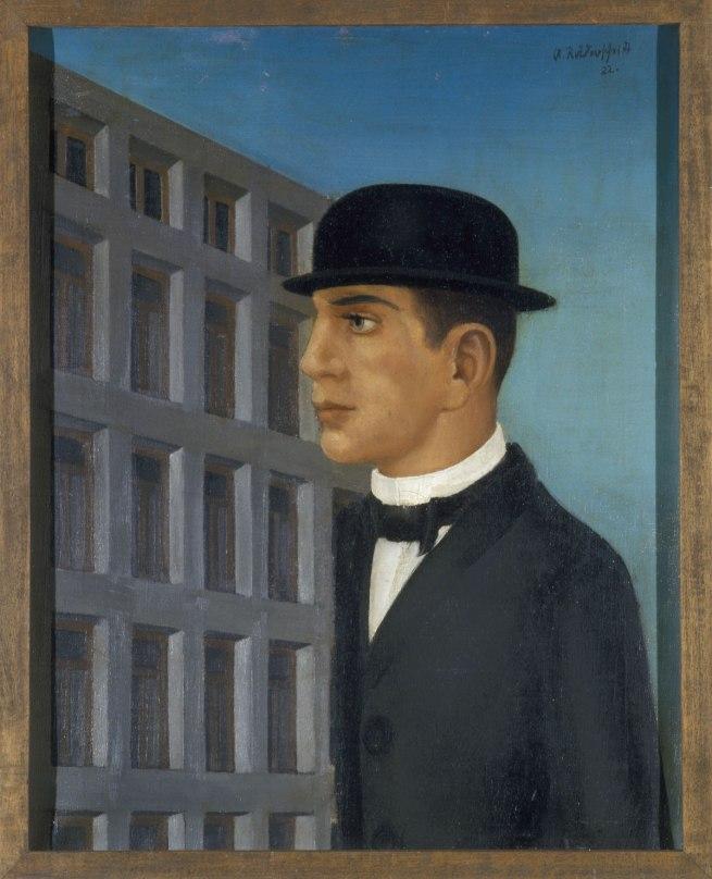 Anton Räderscheidt Man with Bowler (Mann mit steifem Hut), 1922