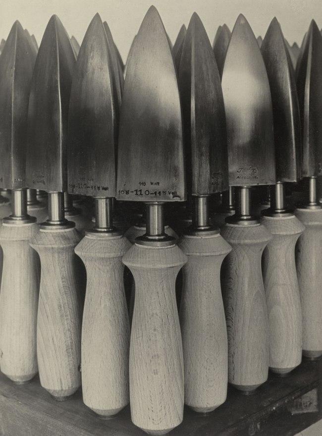 Albert Renger-Patzsch Flat Irons for Shoe Manufacture, Fagus Factory I (Bügeleisen für Schuhfabrikation, Fagus-Werk, Alfeld), 1926
