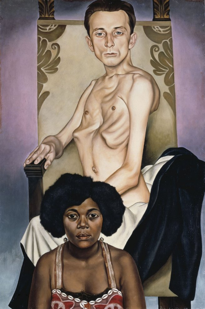"Christian Schad Agosta, ""The Pigeon Chested Man,"" and Rasha, ""The Black Dove,"" (Agosta, der Flügelmensch, und Rasha, die schwarze Taube), 1929"