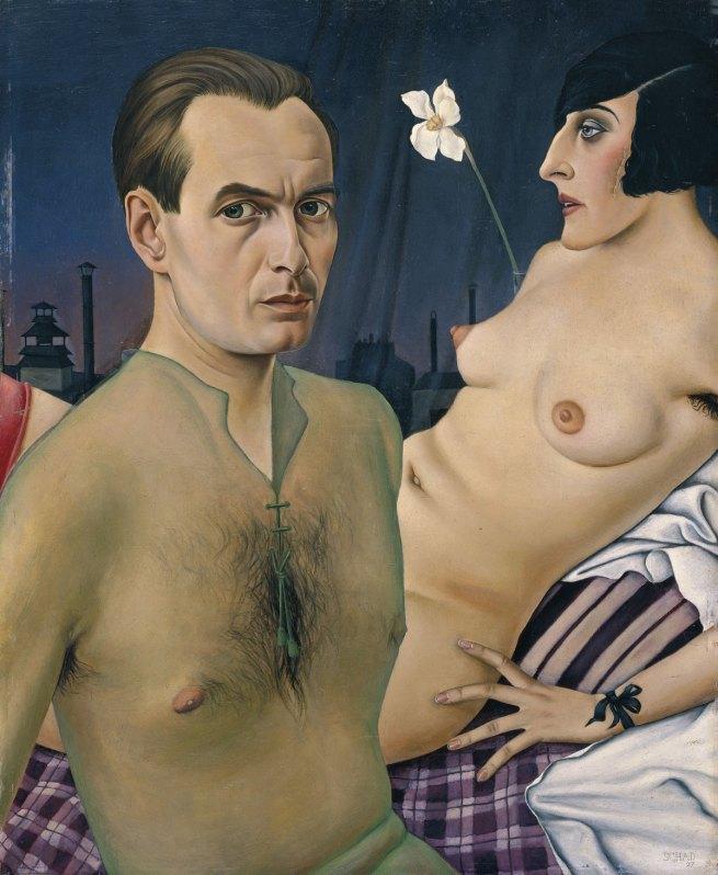 Christian Schad Self-Portrait (Selbstbildnis mit Modell), 1927