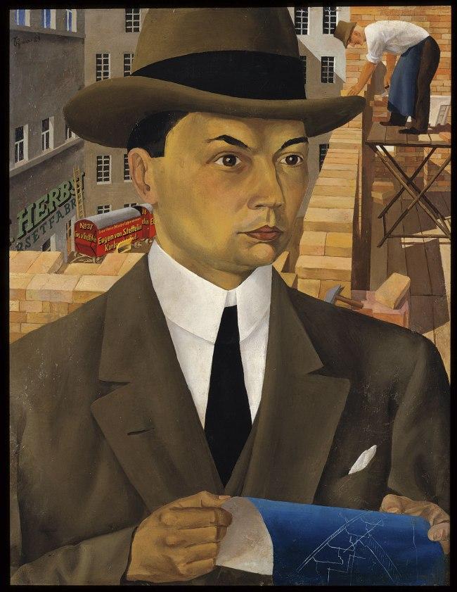 Wilhelm Schnarrenberger Portrait of an Architect (Porträt eines Architekten), 1923