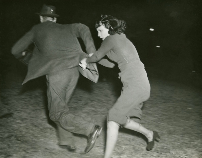 """Anonymous photographer. 'The Photographer set on by His """"Victim"""",' Hollywood Press photo 1938"""