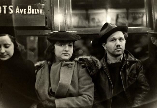 Walker Evans. 'Subway Passengers, New York' 1938